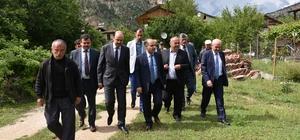 Vali Aktaş Ovacık'ta incelemelerde bulundu
