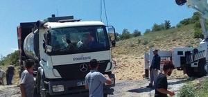 Akçadağ'da belediye kamyonu devrildi: 1 yaralı