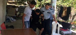 Hırsızlık zanlısı polisten kaçarken bacağını kırdı
