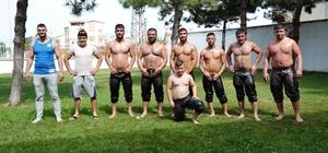 Güreşçiler antrenmanları sıklaştırdı