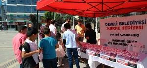 Develi Belediyesi karne hediyesi dağıttı