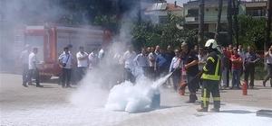 Öğretmenlere yangın eğitimi verildi