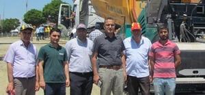 Kaymakam Kadıoğlu, asfalt çalışmalarını denetledi