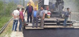 Şaphane'de sıcak asfalt çalışması