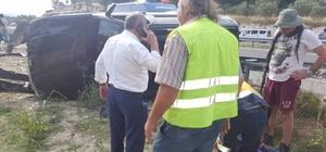 Lüks cip park halindeki araca çarptı: 1 yaralı