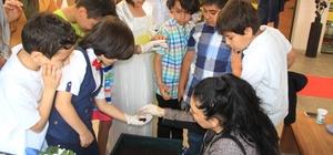 Çocuklar bilim şenliğinde kırmızı solucanla tanıştı