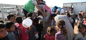 Suriyelilerin iftarlığı Türkiye'den