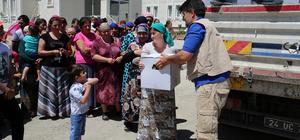 Ahıska Türkü ailelere gıda yardımı