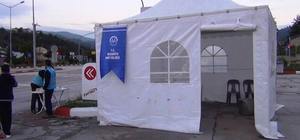 Hırsızlar iftar çadırını çaldı