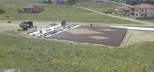 Sungurlu'da parkların zeminleri kauçuk ile kaplanıyor