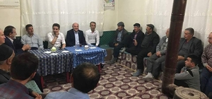 Başkan Ali Çetinbaş ve Milletvekili İshak Gazel sahur programına katıldı