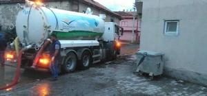 Sandıklı'da sağanak yağış su baskınlarına neden oldu