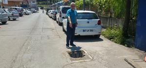 Kışla Mahallesi sakinleri kanalın kapağının onarılmasını istedi