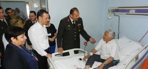 Jandarmadan hastalara 178'nci yıl ziyareti