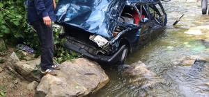 Giresun'da otomobil dereye yuvarlandı: 1 ölü, 2 yaralı