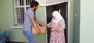 Bismil Belediyesi'nden hasta ve yaşlılara Ramazan paketi