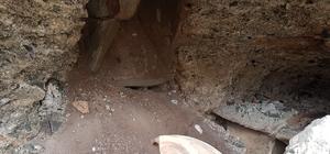 Cami inşaatı temeli kazarken lahit ve küp buldular