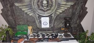 Silah imalatı yapılan eve polis baskını