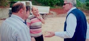 Başkan Musa Yılmaz, Hisarcık'ta yol çalışmalarını yerinde inceledi