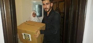 Siirt'te yoksul ailelere kuru gıda yardımı
