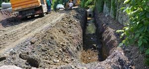 Kartepe'de yağmur suyu hattı çalışmaları