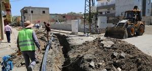 Cizre genelinde içme suyu şebeke hattı döşeme çalışmaları başlatıldı