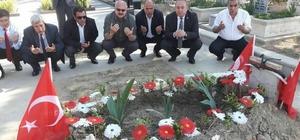 Başkan Şahiner Aybüke öğretmenin mezarını ziyaret etti