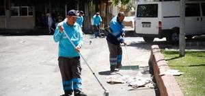 Şehitkamil'in Hızır ekibi bayram temizliğine başladı