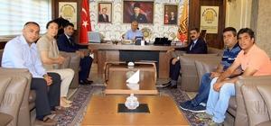 Genel-İş Sendikası Genel Başkanı Çalışkan DÜ Rektörü Gül ile sorunları görüştü