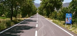 Korkuteli Çomaklı yolu sıcak asfalt