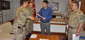 Jandarma personeli başarı belgesi ile ödüllendirildi