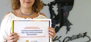Tarık Akan Gençlik Merkezinin 7 bininci üyesine sürpriz hediye