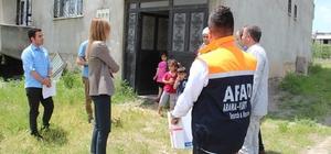 AFAD'dan ihtiyaç sahibi Suriyeli ailelere gıda yardımı