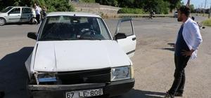 Ereğli'de iki otomobil çarpıştı: 1 yaralı