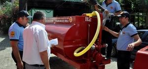 Milas'ta yangın tankeri dağıtımı devam ediyor