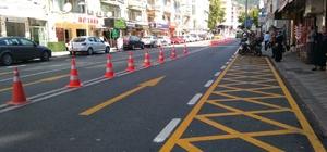 İzmit şehir içi trafiği uyarı işaretleri ile yönlendiriliyor