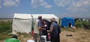 Aslanapa'da çalışan mevsimlik işçilere İHH yardımı