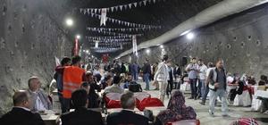 650 kişi tünelde iftarda buluştu