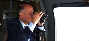 Vali Azizoğlu, operasyon bölgesinde incelemelerde bulundu