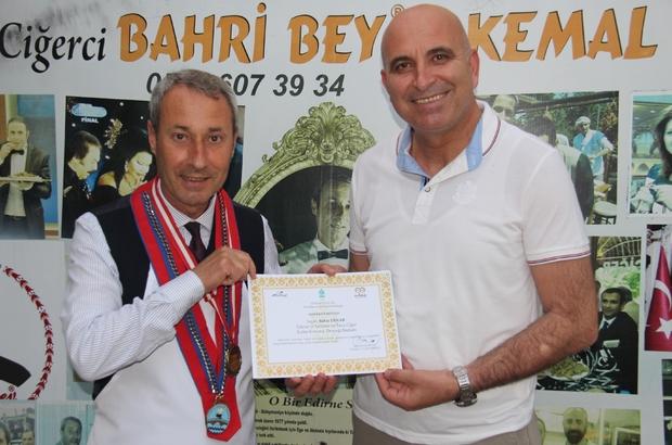 Bahri Bey'e, teşekkür belgesi