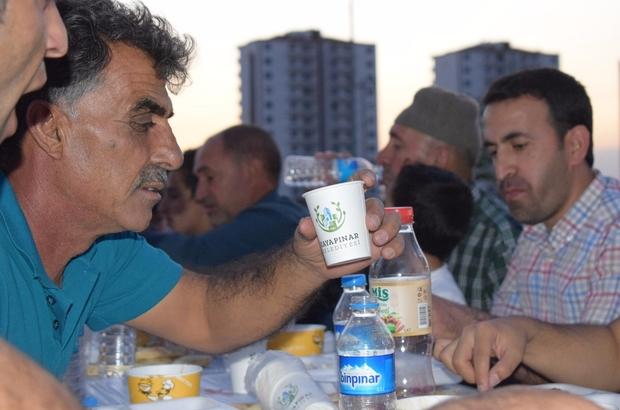 İftar yemeği halktan, şerbetler belediyeden