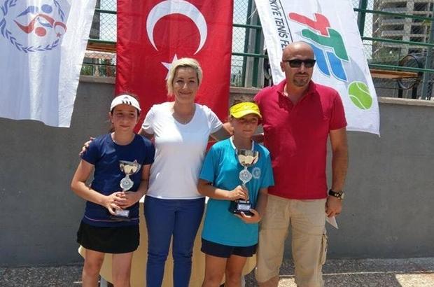 Mersin'de düzenlenen 12 Yaş Tenis Turnuvası sona erdi