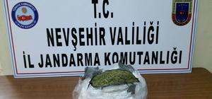 Nevşehir'de 3 kilo 200 gram esrar ele geçirildi