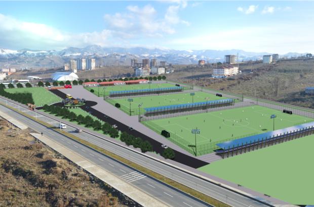 Spor kompleksi inşaatı başladı