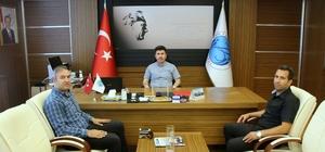 Futbol Hakemleri Temsilcilerinden Rektör Karacoşkun'a  ziyaret