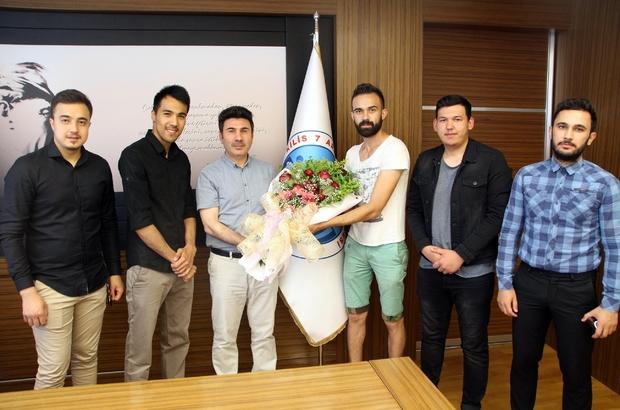 Uluslararası Öğrenciler Rektör Karacoşkun'u ziyaret etti
