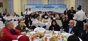 Düzce Üniversitesinin düzenlediği iftar programı birlik ve beraberliğe vesile oldu