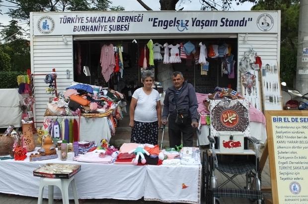 Burhaniye'de Engelsiz Yaşam Standı açıldı