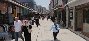 Başkan Toçoğlu Uzunçarşı'da incelemelerde bulundu