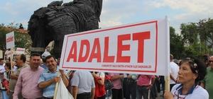 Çanakkale'de 'Adalet' yürüyüşüne destek için önce durdular sonra yürüdüler